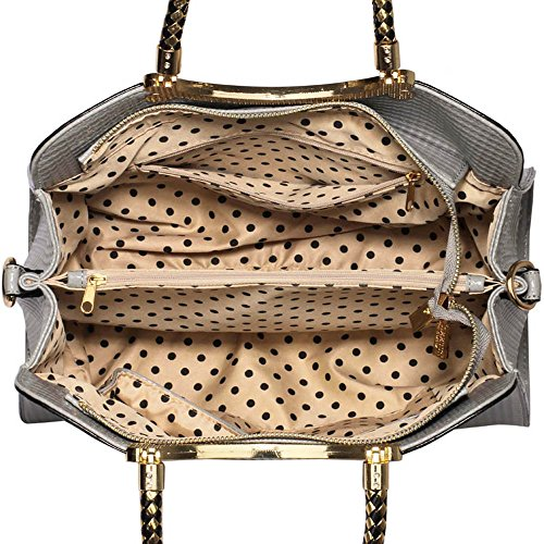 TrendStar Mujeres Bolsas De Créateurs–Careta de estilo damas avestruz de bolsos Fourre Tout C - Grey