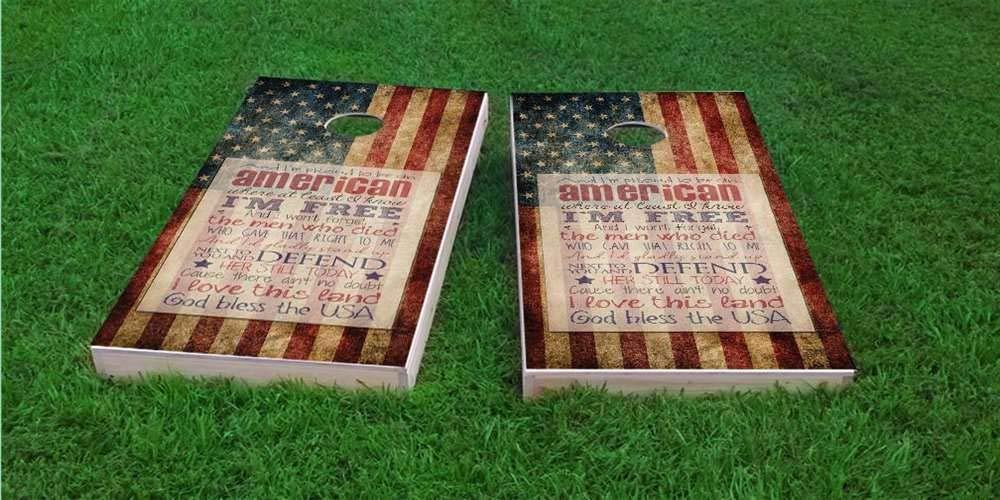 【使い勝手の良い】 Skip's バッグ8枚など Garage American Proud to Be 8) ボード2枚 コーンホールボード - バッグとアクセサリーを選択 - ボード2枚 バッグ8枚など B07PCGYGMZ 8) Stars & Stripes Bags (Weather), アクセONE:5a135811 --- vanhavertotgracht.nl
