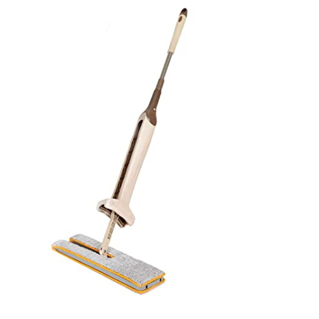 Shopizone�Double Sided Floor Celeing Glass Washing Mop with 360 Degree Rotatational Head (Brown)