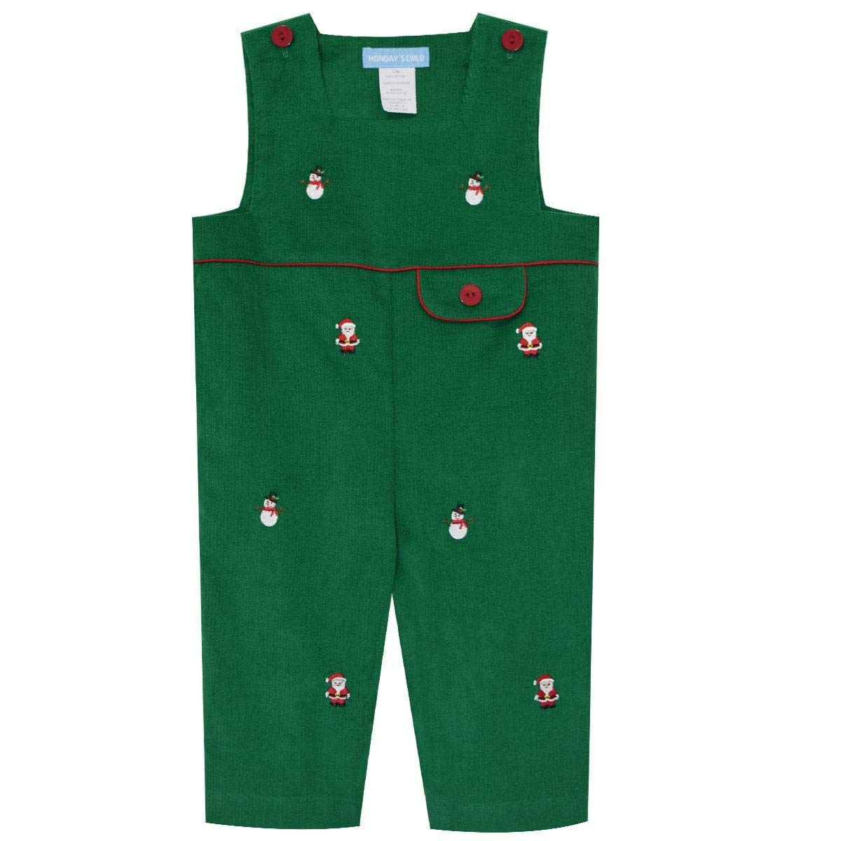 Christmas Embroidered Boys Overall from MONDAYS CHILD by Vive La Fete