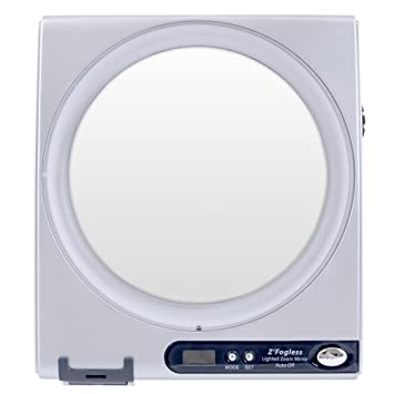 zadro 5x 1x fogless shower mirror silver finish