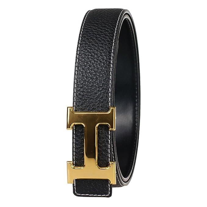 7d4b26334 FY Women Full Grain Leather Belt at Amazon Women's Clothing store: