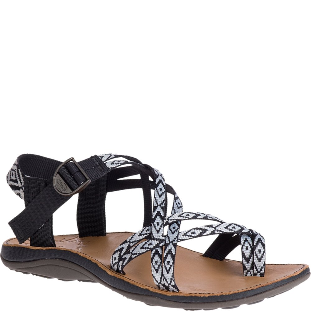 Chaco Women's Diana Sport Sandal, Beveled Black, 9 Medium US