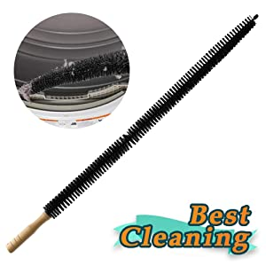 Dryer Cleaner Vent Brush - 30 Inch Long Flexible Dryer Vent Cleaner & Refrigerator Condenser Coil Brush Auger Clothes Lint Trap Remover