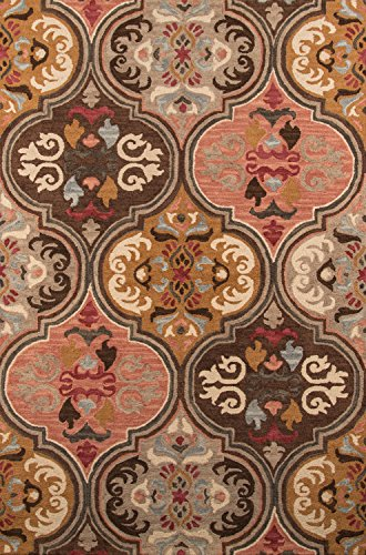 Cheap Momeni Rugs TANGITAN10MTI5080 Tangier Collection, 100% Wool Hand Tufted Tip Sheared Transitional Area Rug, 5′ x 8′, Multicolor