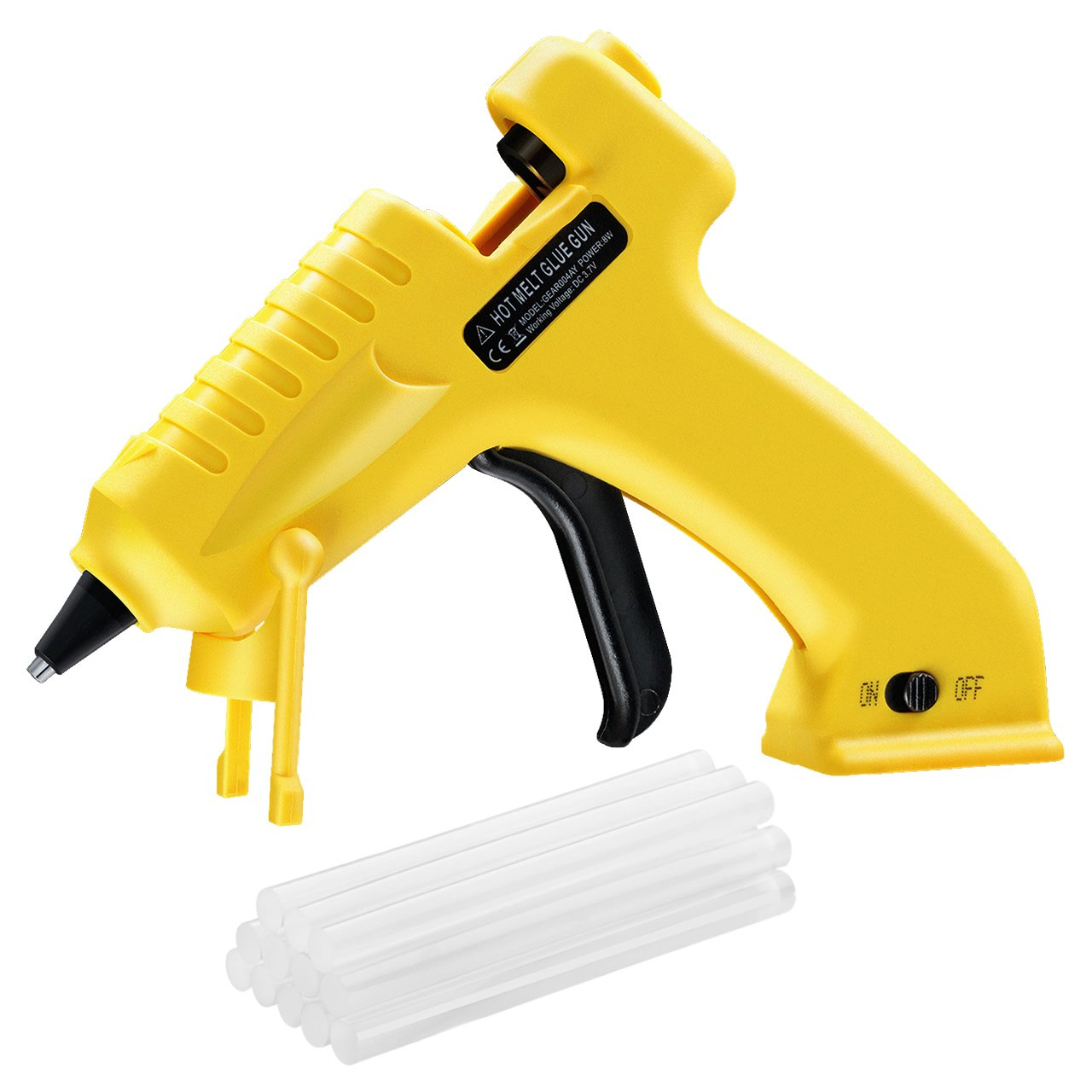 TOPELEK Hot Glue Gun with 12pcs Glue Sticks, Melting Glue Gun Set for School, Office and Home, DIY Arts and Crafts Projects, Home Quick Repairs (100 Watts, Dark Green) Patec