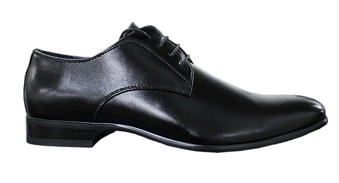 Scarpe classiche uomo Nero eleganti ecopelle Linea Classica