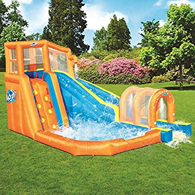 Bestway Hurricane Tunnel Blast Inflatable Water Park Play Center | Includes Big Water Slide, Water Blob, Climbing Wall, and Pool Area | Outdoor Summer Fun for Kids & Families: Toys & Games
