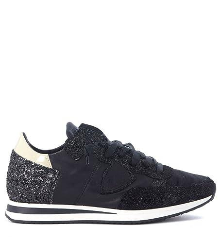 Sneakers In Philippe Leder Model Und Tropez SchwarzAmazon Glitter v0OmN8wn