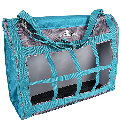 Classic Company Top Load Designer Hay Bag (Check/Teal) by Classic