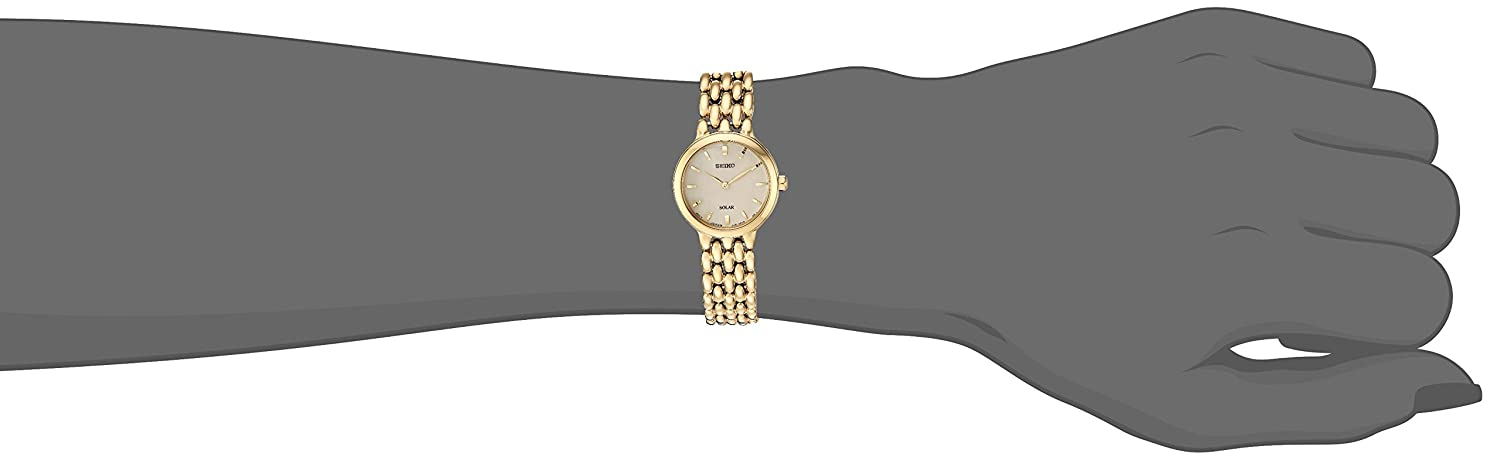 Seiko Women s Ladies Dress Japanese-Quartz Watch with Stainless-Steel Strap, Gold, 12 Model SUP352