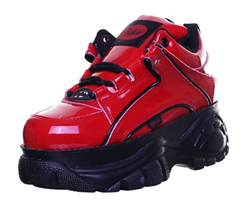 Buffalo 1339-14 - Zapatillas de Piel para hombre Rojo Red Patent PN12: Amazon.es: Zapatos y complementos