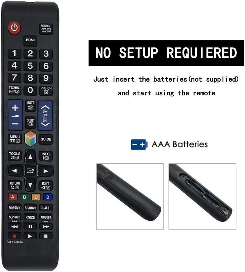 reemplazado Samsung TV Remote AA59-00580A AA59-00581A AA59-00638A AA59-00581A AA59-00594A BN59-01198Q Nuevo Control Remoto de reemplazo para Samsung AA59-00582A para LCD LED TV