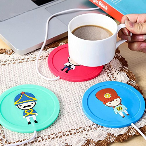 (Dental Pick Toothpick Cartoon Creative Silicone Electric Insulation Coaster USB Warm Cup Heating Device Office Coffee Tea Warmer Pad Mat Dental Floss Picks)