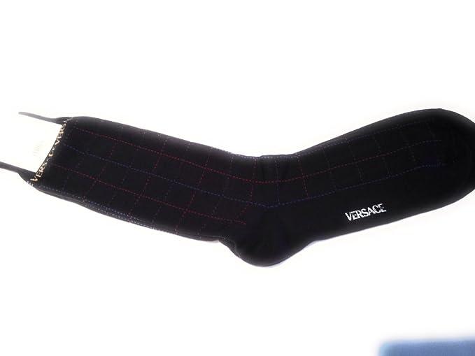 Versace Socks - Medias de fútbol - para hombre azul azul marino Talla única: Amazon.es: Ropa y accesorios
