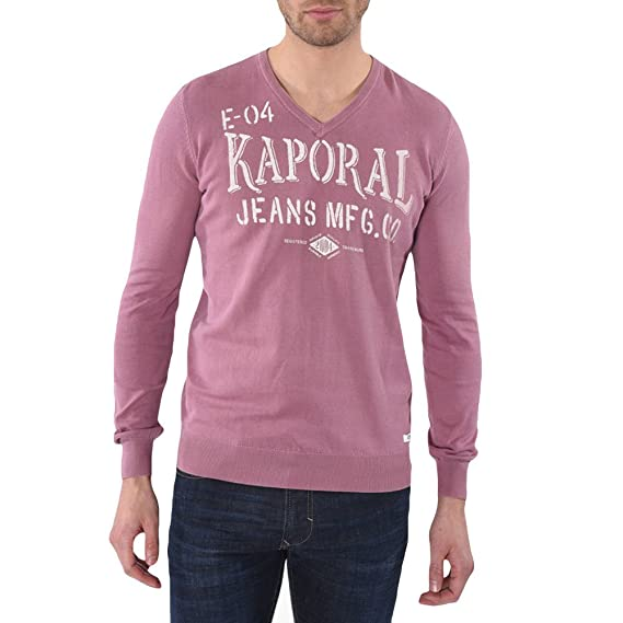 5375c70a2f72 Kaporal Lokia T-Shirt ML Homme Violet Taille L  Amazon.fr  Vêtements ...