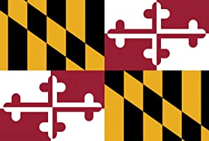 Toland Home Garden Maryland State Flag 28 x 40 Inch Decorative USA House Flag