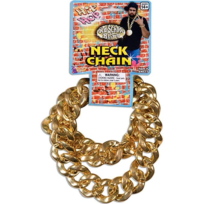 Amazoncom 80S Big Links Neck Chain Gold Toys Games