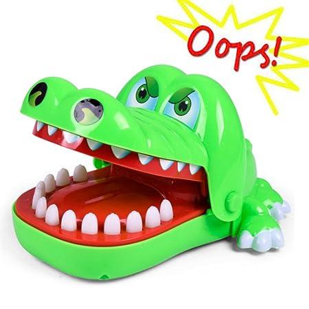 Oun Nana Crocodile Toy - Dinosaur Biting Finger Game Funny Toys
