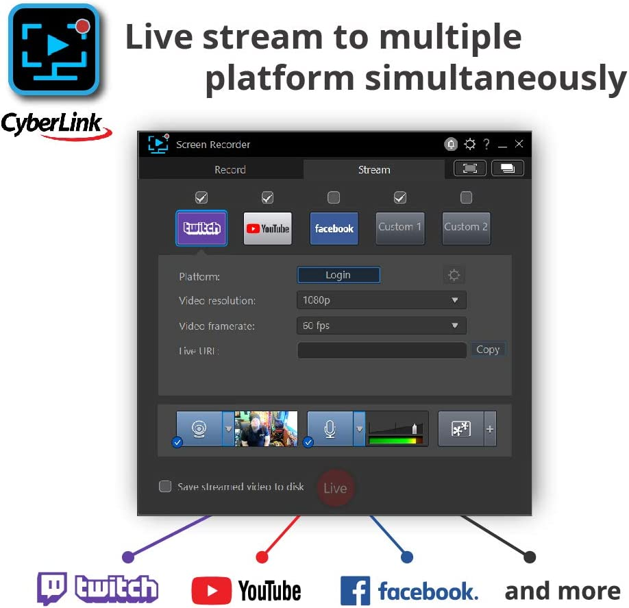 Streaming with OBS Cyberlink Screen Recorder 4 Saturn NS110 Power ...