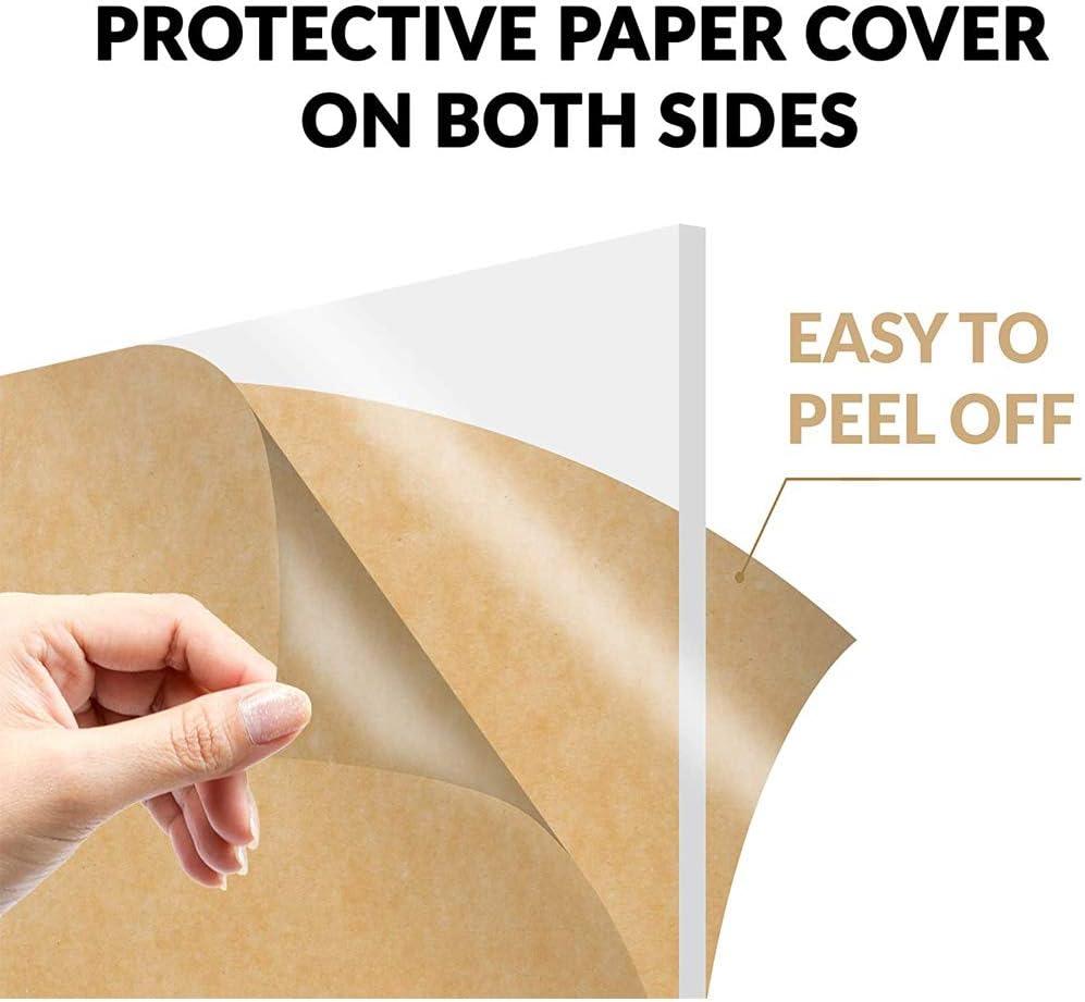 SZQL Acrylic Sheet Clear Cast Plexiglass for DIY Laser Engraved Signage,Shelving,100x350mm