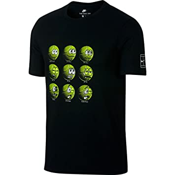 Nike Emoji M Federer Ball Amazon Shirt Black Tennis Tee co Roger q6Iwg6