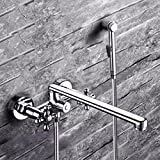Hot And Cold Shower To Double Copper Mixing Valve Extended Into The Wall Type Shower Triple Bathtub Faucet