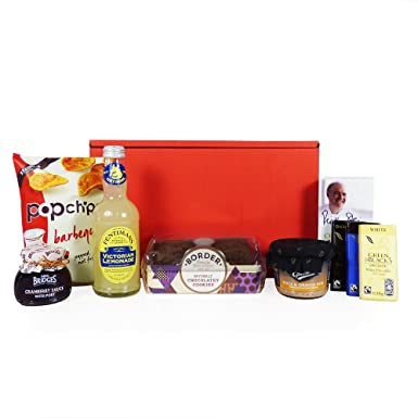 Gents Nibbles Red Gift Box Hamper (7 Artículos) - Ideas de ...