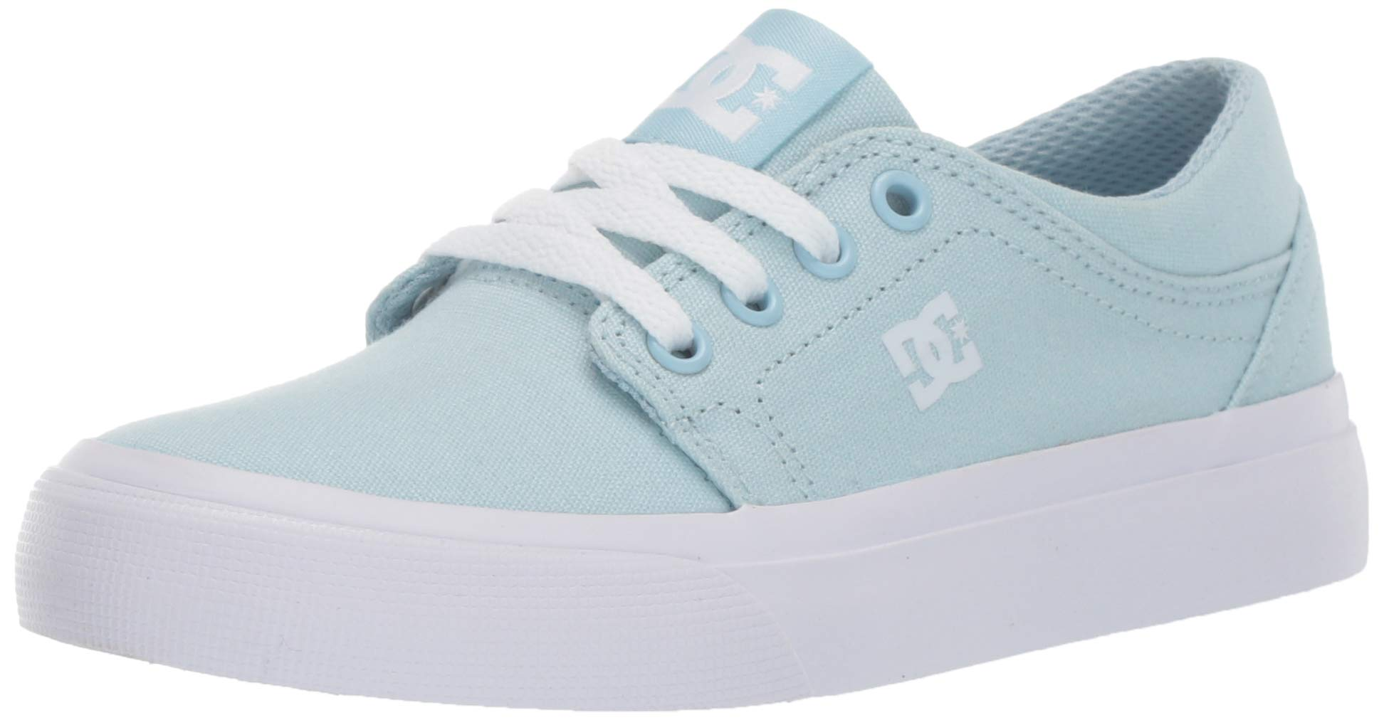 DC Girls' Trase TX Sneaker, Powder Blue, 1 M M US Little Kid