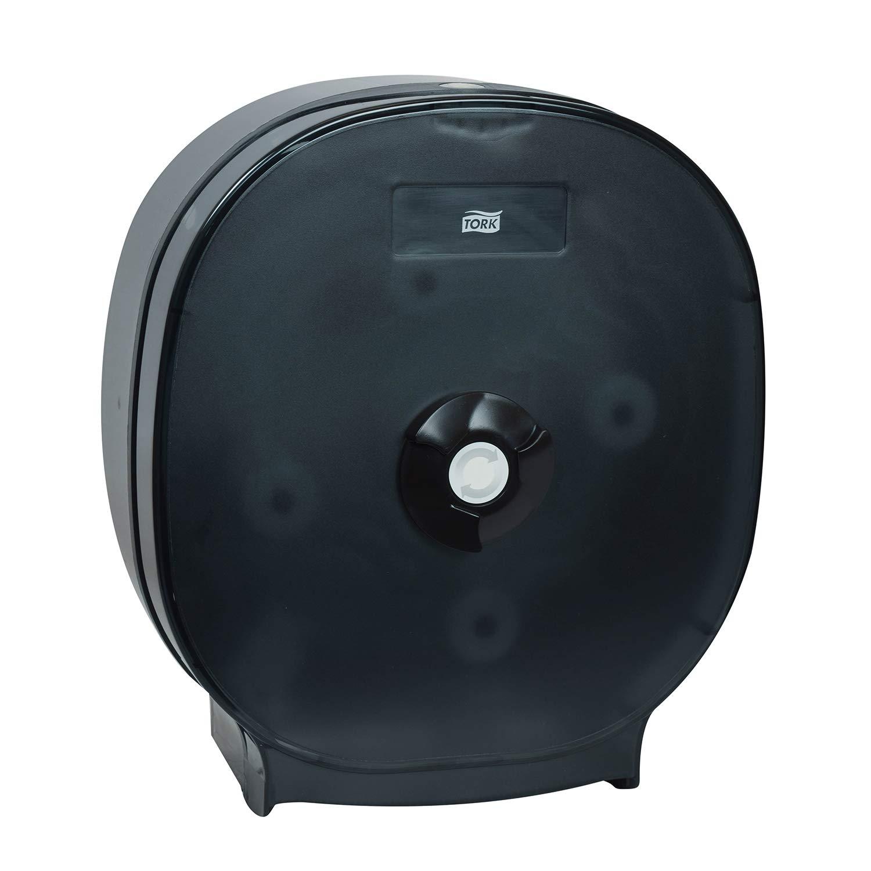 Tork 88411 4-Roll Bath Tissue Dispenser, 13.17'' Height x 15.0'' Width x 6.0'' Depth, Black (Case of 1 Dispenser)