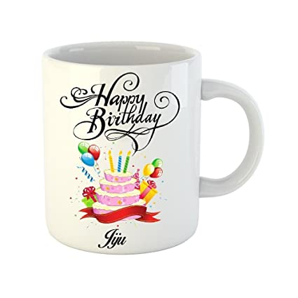 Buy Khakee Happy Birthday Jiju Theme Printed Ceramic Coffee Mug 325 Ml Online At Low Prices In India