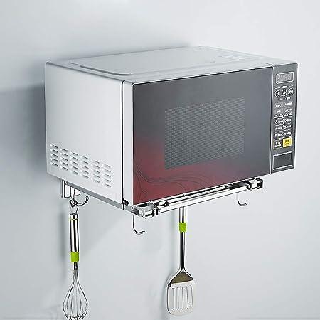 MMD Microondas Soporte de Acero Inoxidable Colgante de Cocina del Estante del Horno microondas Soporte de Pared Rejilla del Horno de Soporte de suspensión Percha: Amazon.es: Hogar