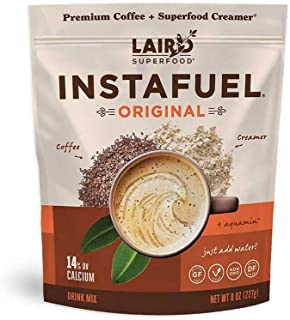 product image for Laird Superfood Instafuel Instant Coffee + Creamer, Packaging May Vary, brown, 8 ounce (pack of 1) (LSF00630)