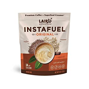 Laird Superfood Instafuel Instant Coffee + Creamer, Packaging May Vary, brown, 8 ounce (pack of 1) (LSF00630)