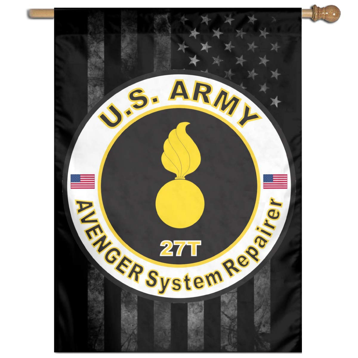 Army MOS 27T Avenger System Repairer Family Party Banner Flags Springtime 27
