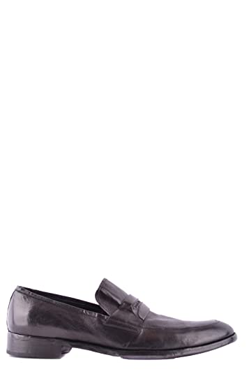 Men's MCBI099164O Black Leather Loafers