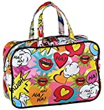 iscream 'Love 2 Laugh' 12.25'' x 8.25'' Double Handle Zippered Cosmetic Bag