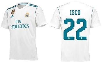 Camiseta de hombre del Real Madrid 2017 - 2018, primera equipación, WC, Isco 22, small: Amazon.es: Deportes y aire libre