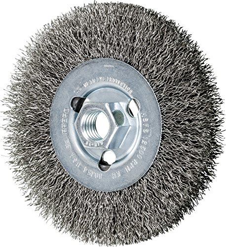Stainless Steel Crimped Wire - PFERD 80354 Crimped Wheel Brush, Stainless Steel Wire, 4-1/2