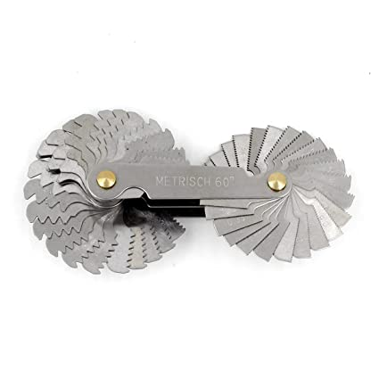 Details about  /40XThread Measuring Gage 60 Degree Whitworth Metric Screw Thread Pitch Gauge  WW