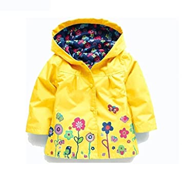 FEITENGTD Girls Clothes Jacket Kids Children Clothing Spring Autumn Waterproof  Jacket Raincoat Coat bb4b90081622