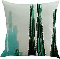 Sameno Throw Pillow Case European Sofa Home Decor 4545cm Cotton Linen Cushion Cover (B)