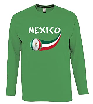 Supportershop – Camiseta México L/S para Hombre, Verde, FR: XL (