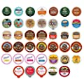 Flavored Coffee Variety Sampler Pack for Keurig K-Cup Brewers, 40 Count by Crazy Cups