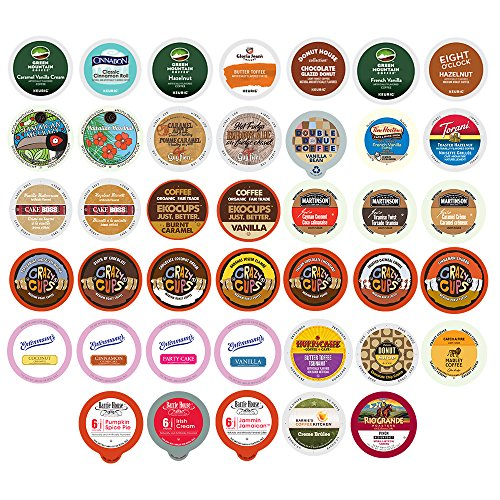 Flavored Coffee Variety Sampler Pack for Keurig K-Cup Brewers, 40 Count (Keurig Coffee Flavored compare prices)