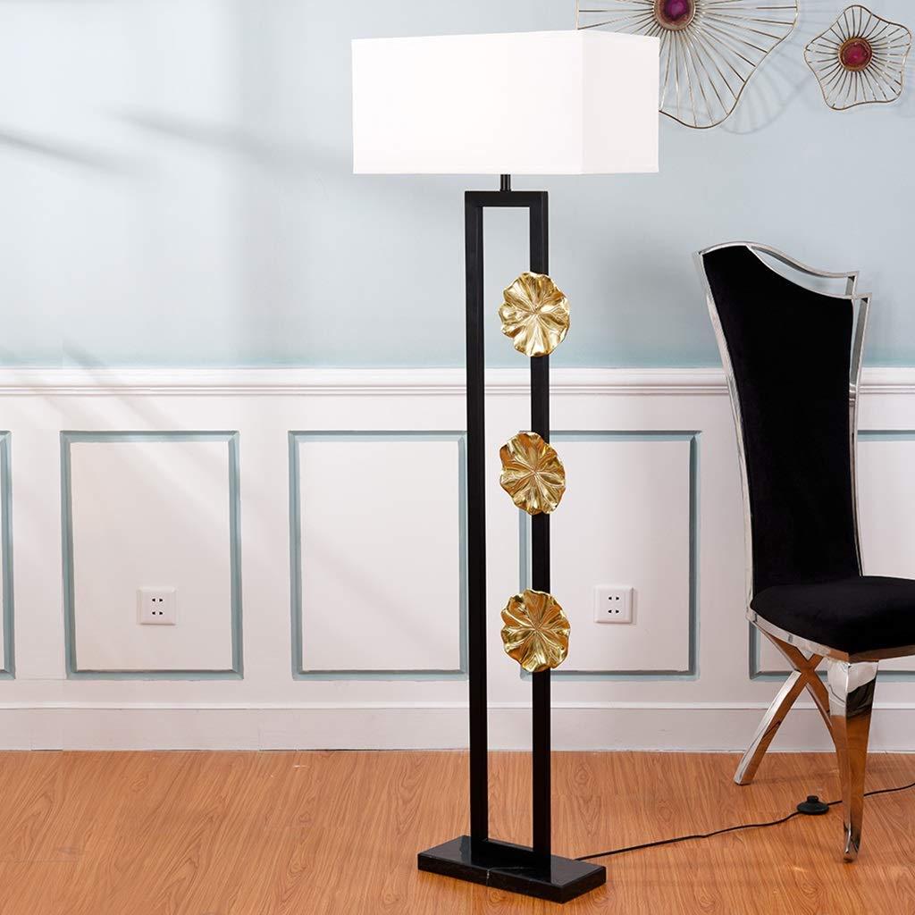 Stehlampen Stehleuchte Wohnzimmer Led Vertikal Kupfer Lotusblatt
