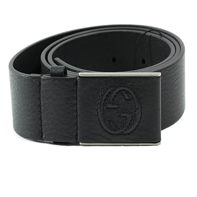 e2c049e2ffb Gucci Men s Interlocking G Leather Belt 368188 4009 (Navy Blue