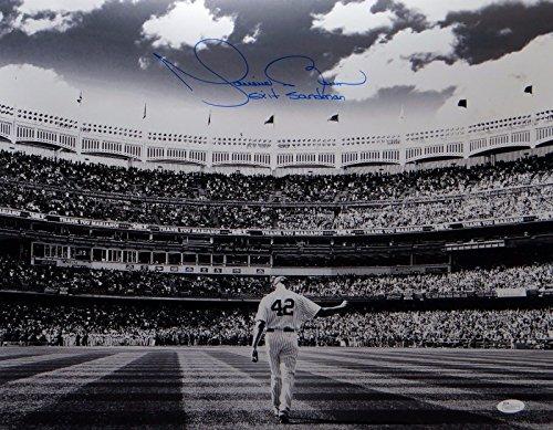 Mariano Rivera Autographed 16x20 NY Yankees B&W Photo W/Exit Sandman- JSA ()