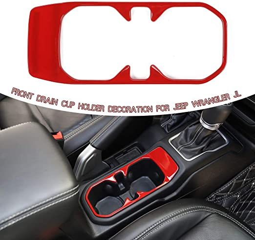 Red ABS Interior Rear Row Air Vent Outlet Trim for Jeep Wrangler JL 2018 2019