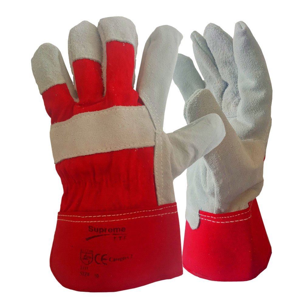5 Pairs Canadian Leather Rigger Work Gloves Heavy Duty Safety Gauntlets Size XL SUPREME TTF